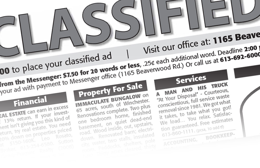 Classified ads place